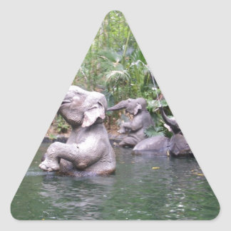 Elephant Party Time Triangle Sticker