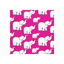 Elephant Pattern Art Canvas Print