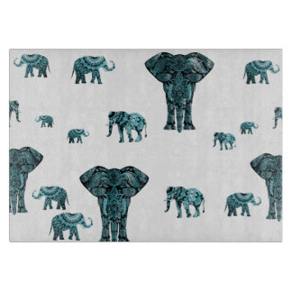 Elephant Pattern Cutting Board