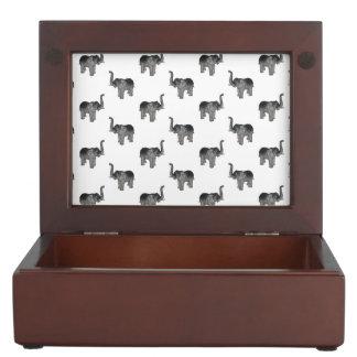Elephant Pattern Keepsake Box