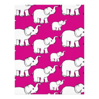 Elephant Pattern Letterhead Design