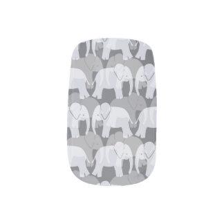 Elephant Pattern Minx Nails - Grey Minx® Nail Wraps