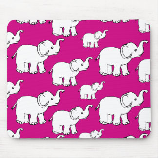 Elephant Pattern Mouse Pad