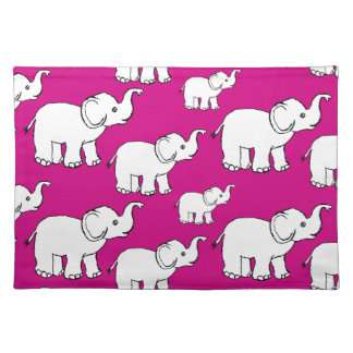 Elephant Pattern Placemat