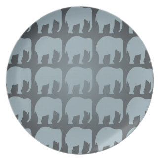 Elephant Pattern Plate