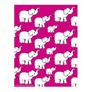 Elephant Pattern Postcard