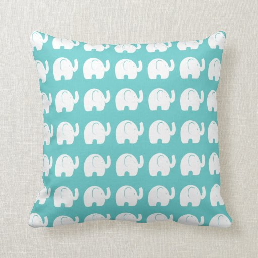 Elephant Pattern Throw Pillow Zazzle