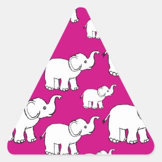 Elephant Pattern Triangle Sticker