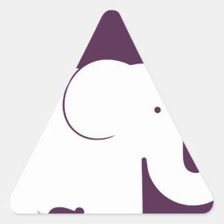 Elephant.pdf Triangle Sticker