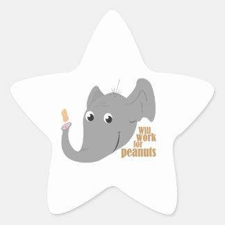 Elephant Peanut Star Stickers