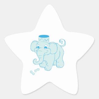 Elephant Peanuts Star Stickers