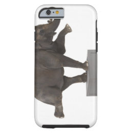 Elephant performing trick on box tough iPhone 6 case
