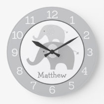 Elephant Personalized Wall Clock