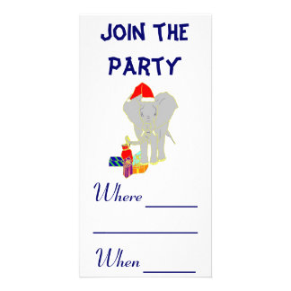 Elephant Photo Card Template