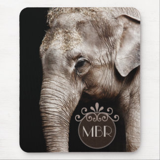 Elephant Photo Image Mouse Pad