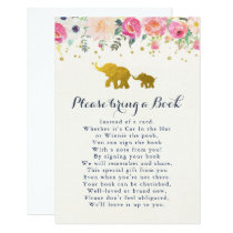 Elephant Pink Bring A Book Card