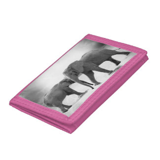 ELEPHANT PINK PHOTO WALLET. TRIFOLD WALLETS