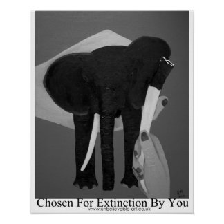 Elephant Poaching, Tusk, Conservation Pachtderms Poster