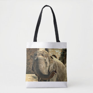 Elephant Pointing Forward with the Trunk Tote Bag