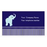 Elephant polka dots stripes custom business card