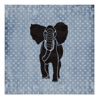 Elephant Polka Poster