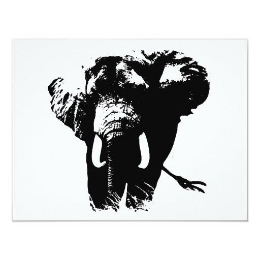 Elephant Pop Art 4.25x5.5 Paper Invitation Card
