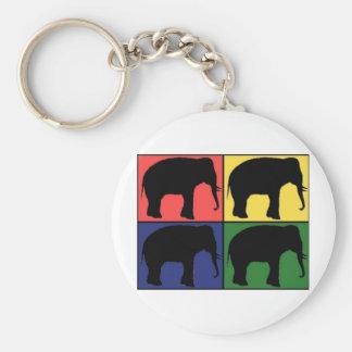 Elephant Pop Art Keychain