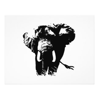 Elephant Pop Art Personalized Flyer