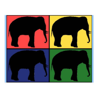 Elephant Pop Art Postcard