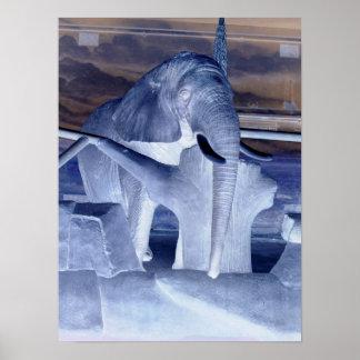 Elephant Pop Art Poster