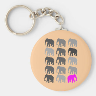 Elephant PopArt Gifts Keychain