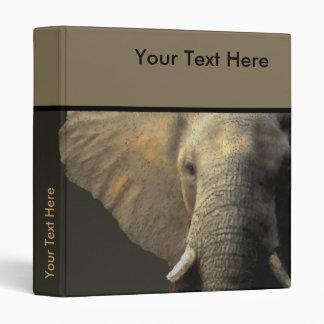 Elephant Portrait Binder