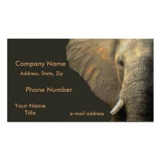 Elephant Portrait Business Card