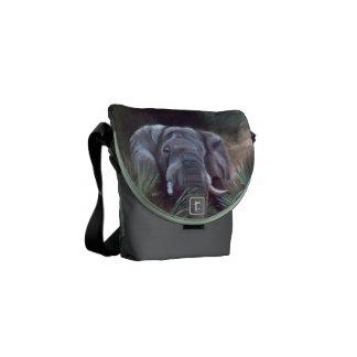Elephant Portrait Mini Messenger Bag