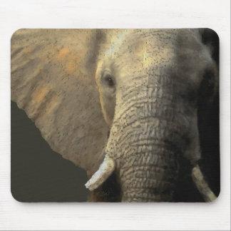 Elephant Portrait Mouse Pad
