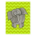 Elephant. Postcard
