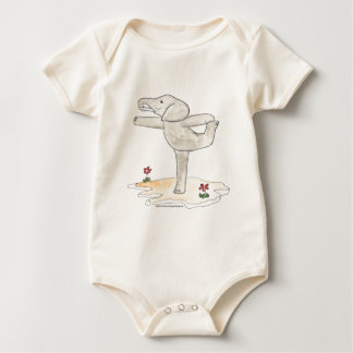 Elephant Practicing Yoga Dancer's pose Baby Bodysuit