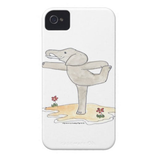 Elephant Practicing Yoga Dancer's pose iPhone 4 Covers