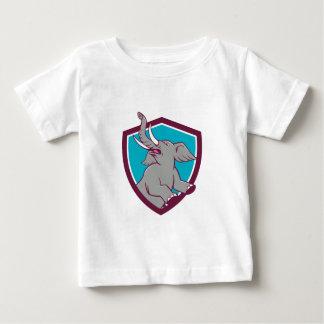 Elephant Prancing Crest Cartoon Baby T-Shirt