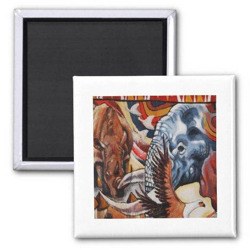 Elephant Pride 2 Inch Square Magnet
