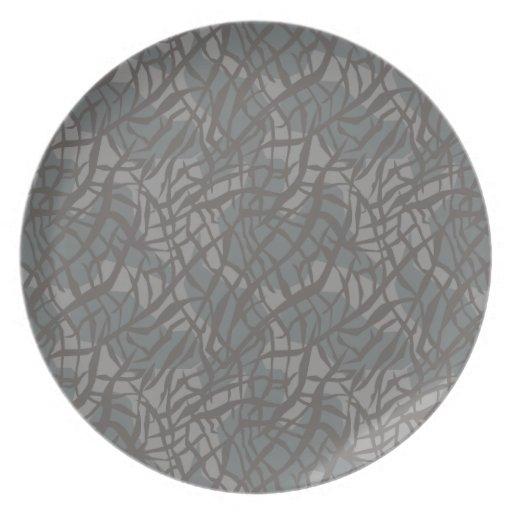 Elephant Print Dinner Plate