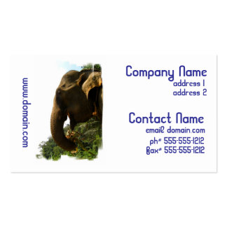 Elephant Profile Business Cards