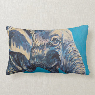 Elephant Profile Lumbar Pillow