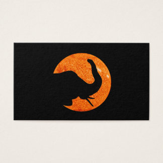 Elephant Profile Solar Eclipse Shadow Business Card
