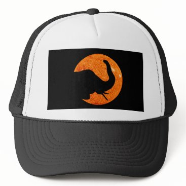 Halloween Themed Elephant Profile Solar Eclipse Trucker Hat