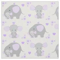 Elephant Purple Safari Animal Nursery Baby Girl Fabric