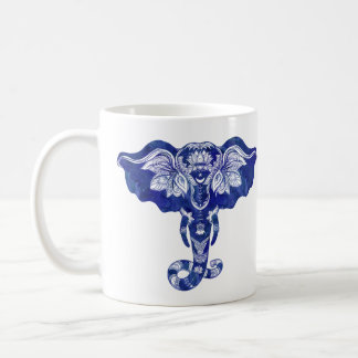 Elephant Quote Tribal Mehndi Henna Coffee Cup