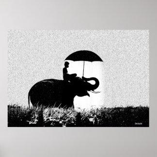Elephant Rain Art- 88.56cm x 60.96cm Poster