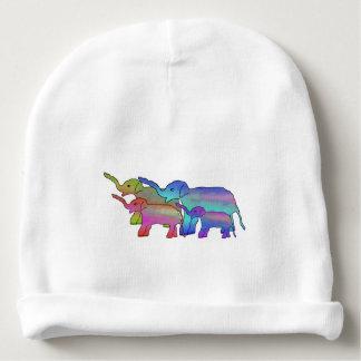 Elephant Rainbow Baby Beanie