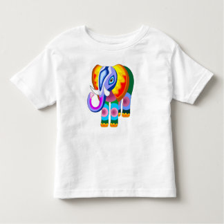 Elephant Rainbow Colors Patchwork toddler tee